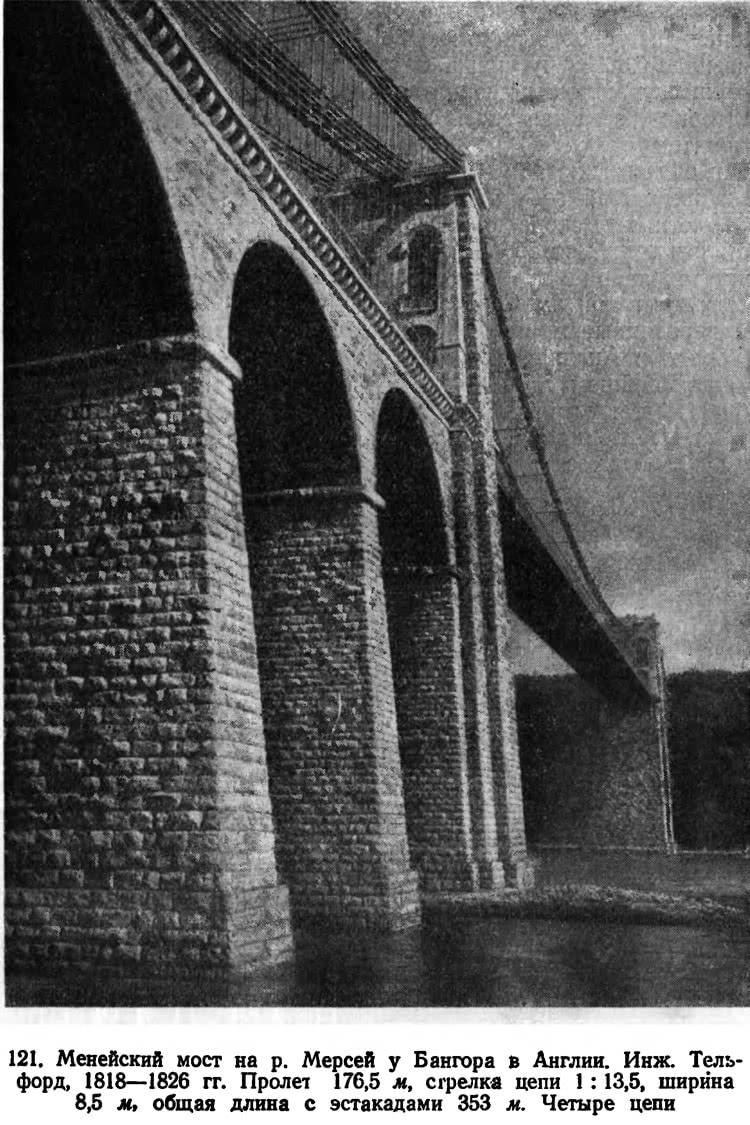 121. Менейский мост на р. Мерсей у Бангора в Англии