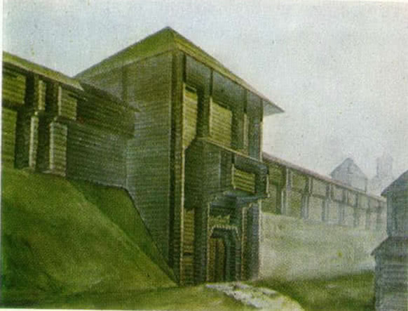 Михайловские ворота города Владимира. Реконструкция автора