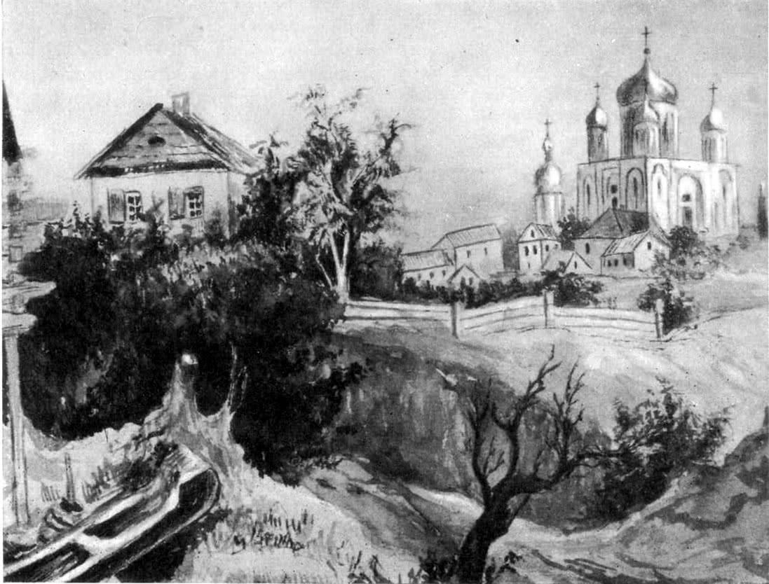 Десятинная церковь. Рисунок начала XIX в