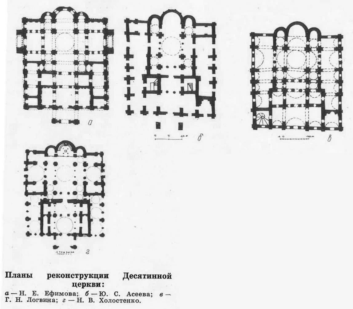 Планы реконструкции Десятинной церкви