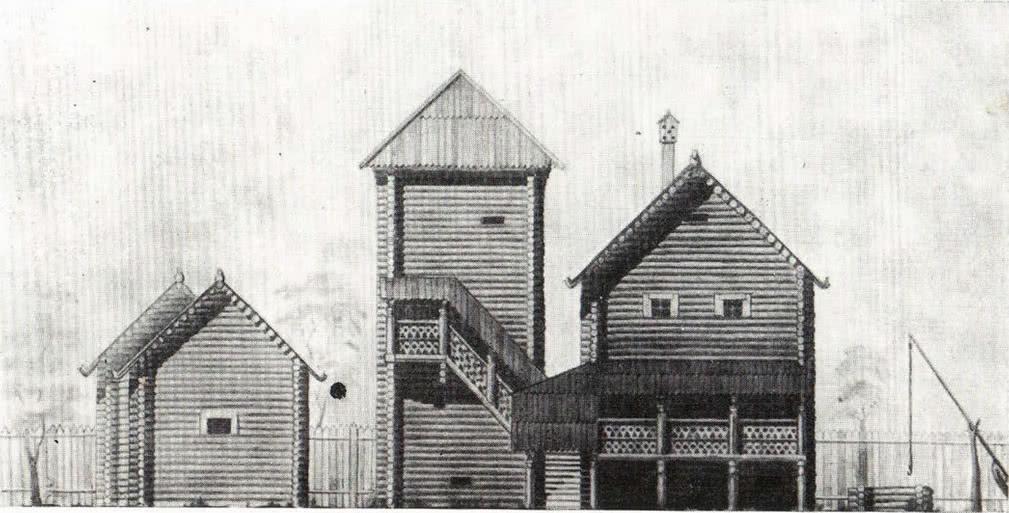 Застройка боярской усадьбы. Опыт реконструкции В. А. Харламова