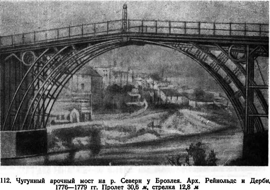 112. Чугунный арочный мост на р. Северн у Брозлея