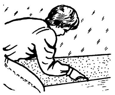 Формирование канавки для шнура