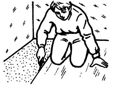 Вырезание канавки для шнура