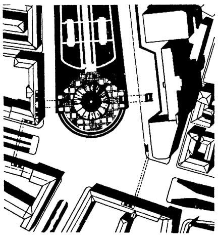 Памятник Дружба народов СССР на Трубной площади. Конкурсный проект 1982 г. Генплан