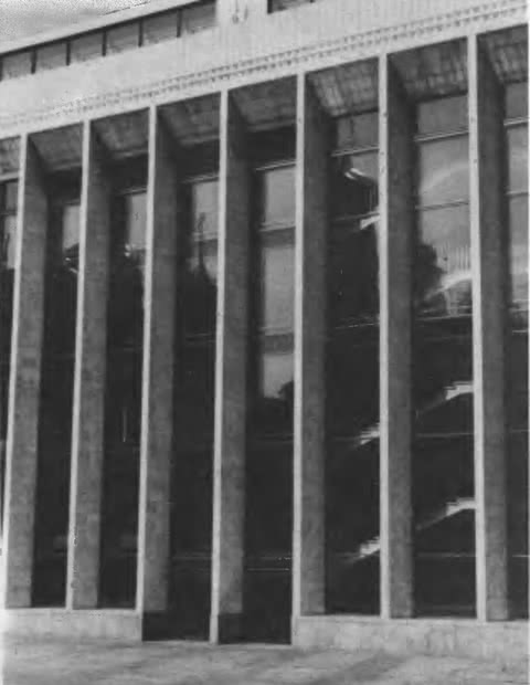 Дворец съездов в Московском Кремле. Фрагмент фасада