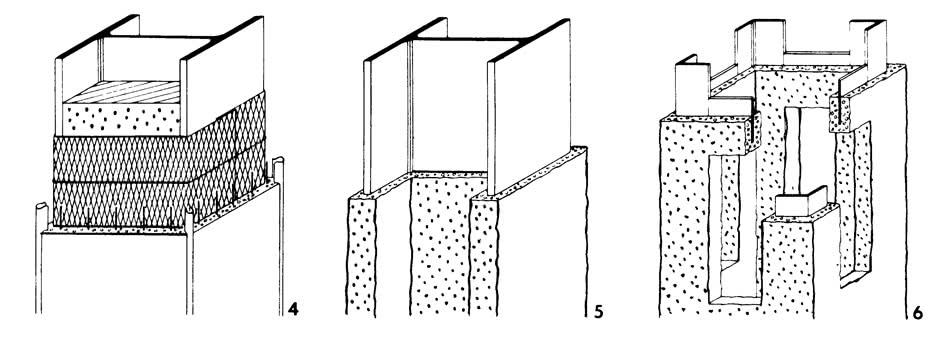 Рисунки 4-6. Оштукатуривание колонн