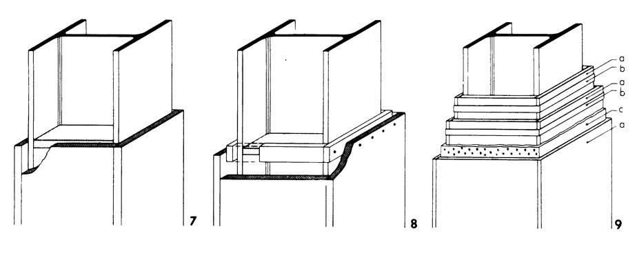 Рисунки 7-9. Облицовка плитами колонн