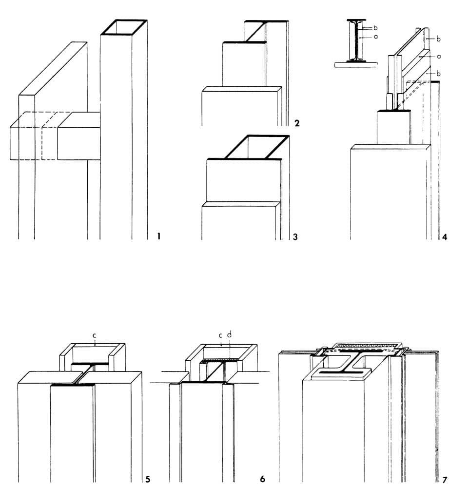 Рисунки 1-7. Огнезащита наружных колонн