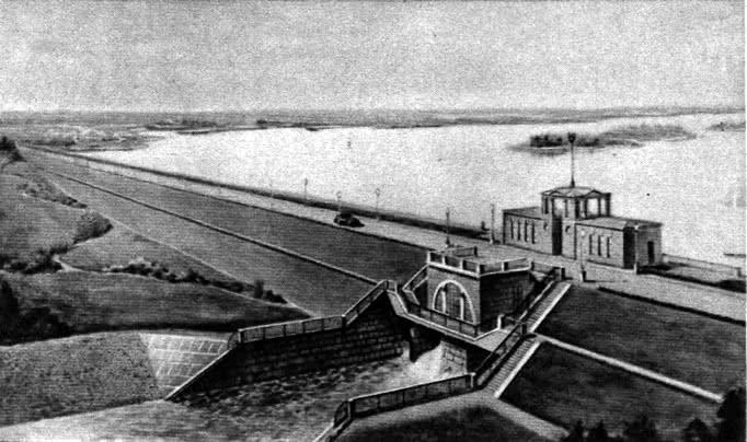 Заславльское водохранилище. Перспектива со стороны плотины