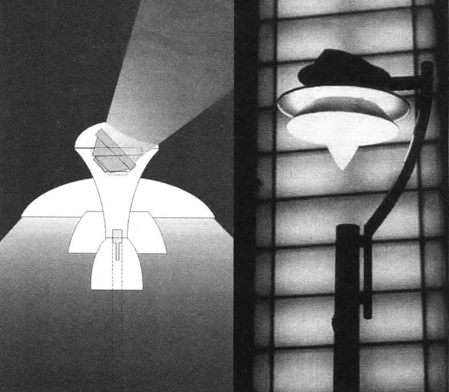 Светильник двойного назначения для освещения улиц и подсветки фасадов и деревьев