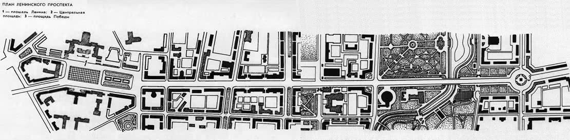 План Ленинского проспекта