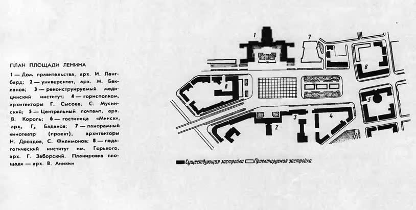 План площади Ленина