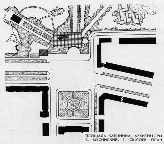 Площадь Калинина, план