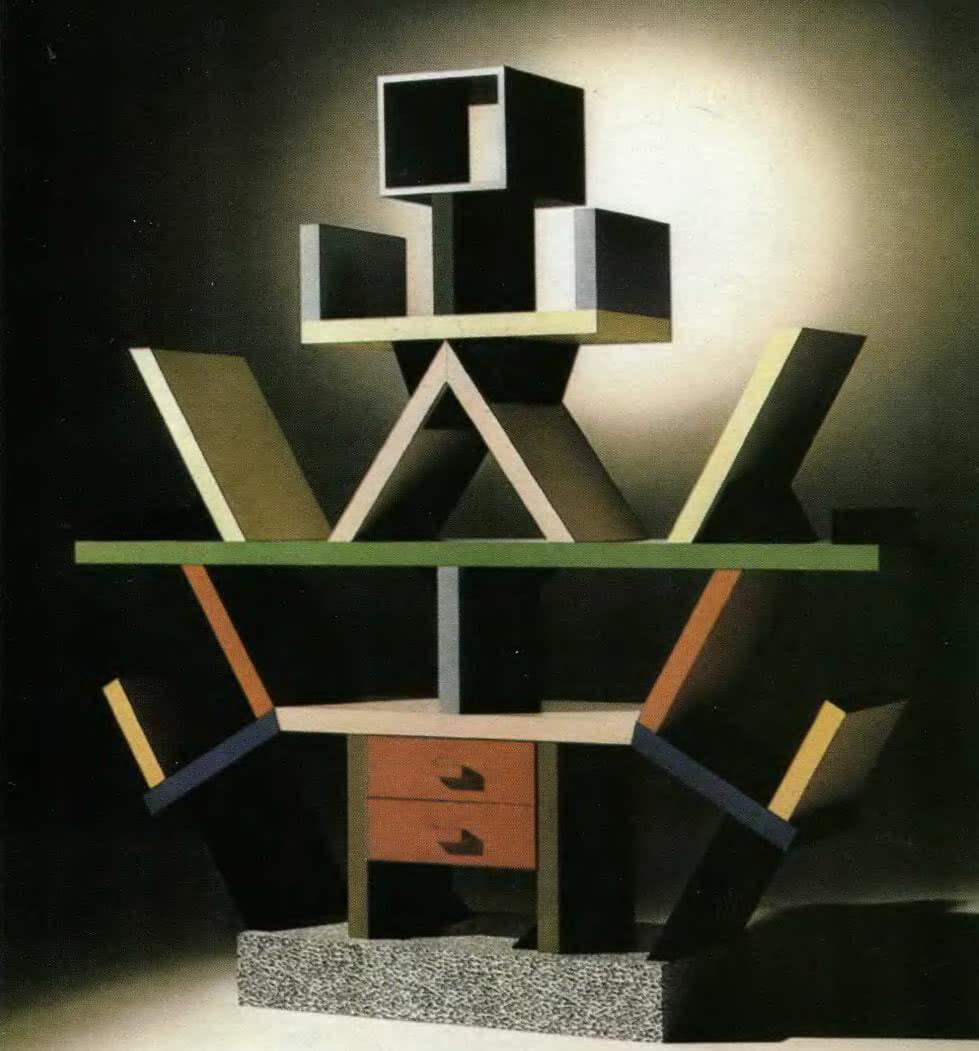 Стеллаж Карлтон, Э. Соттсасс, 1981