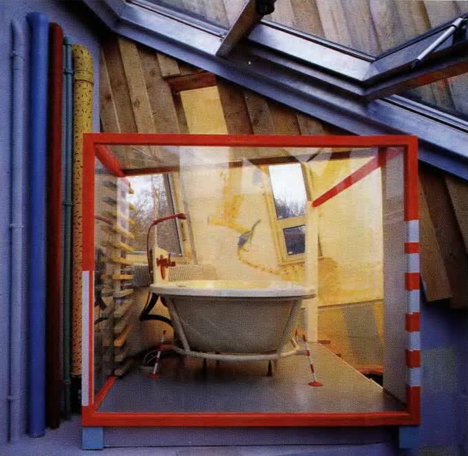 Дом в Брайсахе, ванная. Т. Шпигельхальтер, Германия, 1993