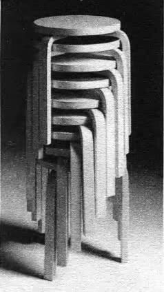 Табурет фанерный. А. Аалто, Финляндия, 1930