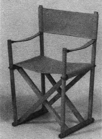 Кресло складное. И. Кох, 1938