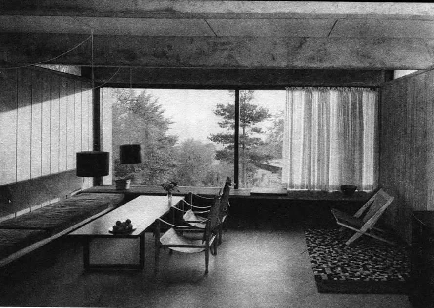 Жилая комната дома. К. Фриис, Э. Нильсен, Дания, 1958