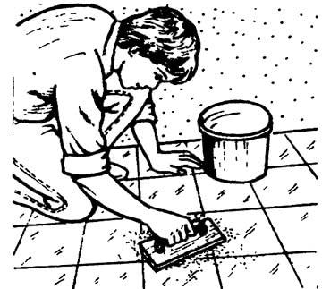 Окончательная очистка напольного покрытия
