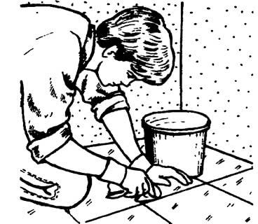 Удаление загрязнений с керамической плитки