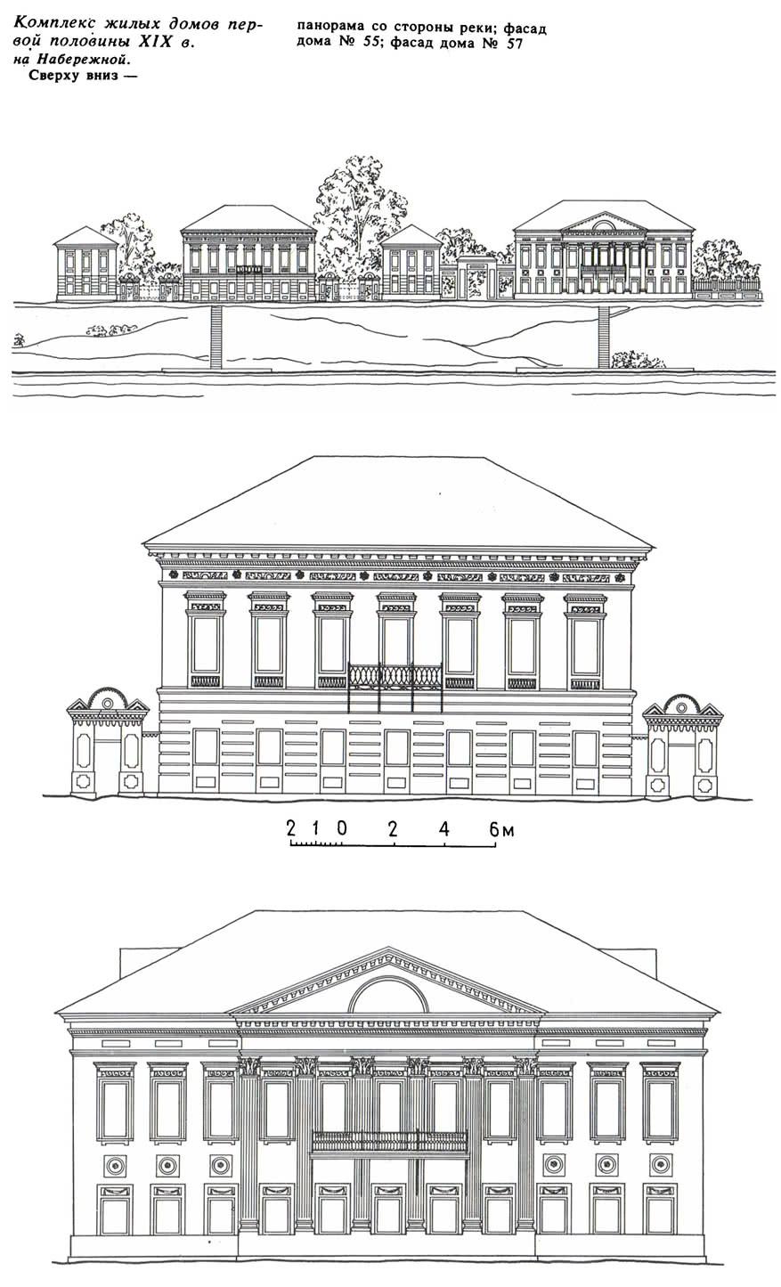 Комплекс жилых домов первой половины XIX в. на Набережной