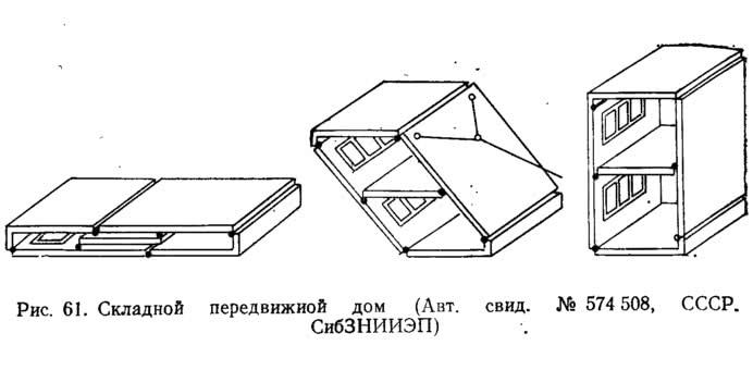 Рис. 61. Складной передвижной дом