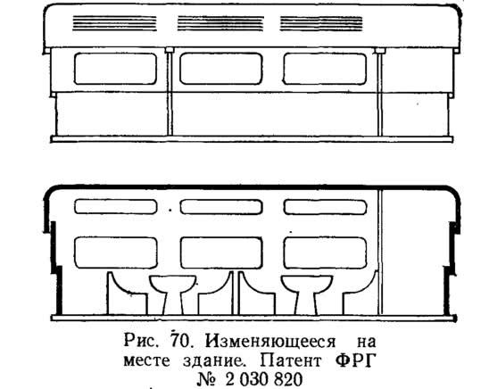Рис. 70. Изменяющееся на месте здание