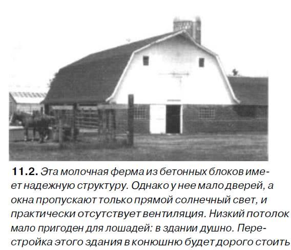 11.2. Эта молочная ферма из бетонных блоков имеет надежную структуру