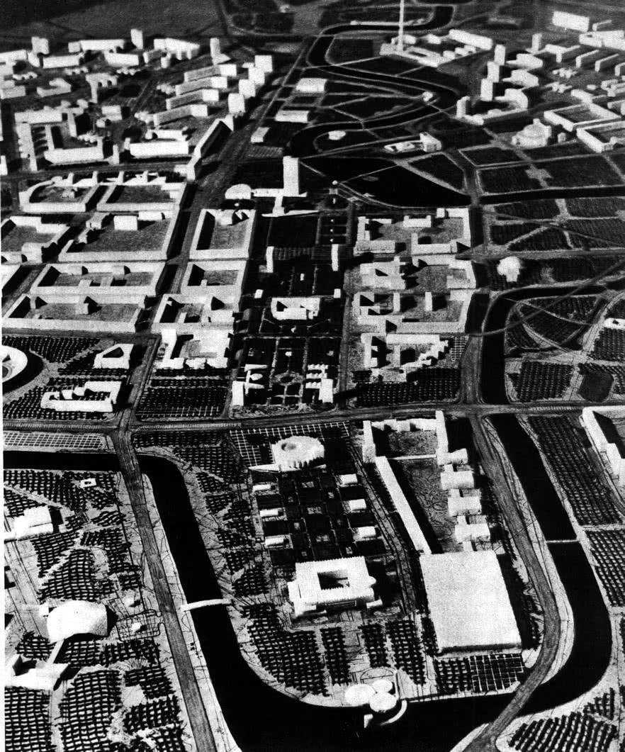Фрагмент макета перспективной застройки центра