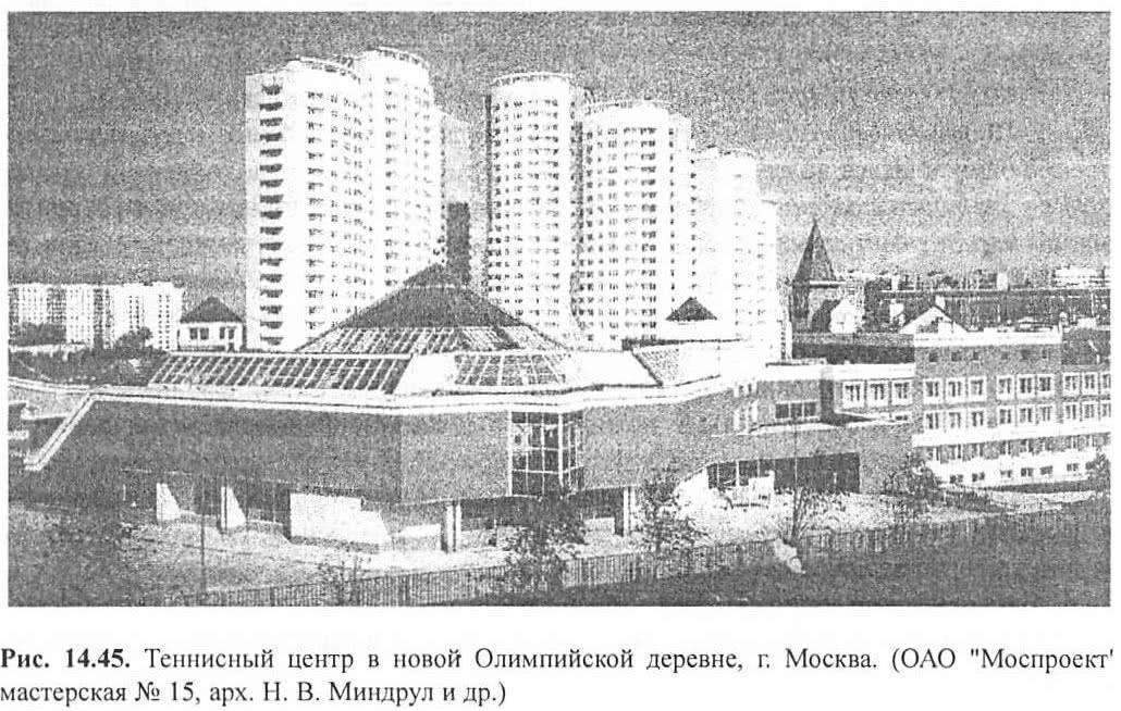 Рис. 14.45. Теннисный центр в Олимпийской деревне, г. Москва