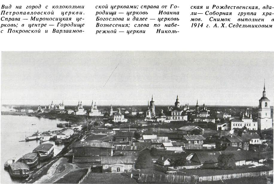 Вид на город с колокольни Петропавловской церкви. 1914 г.