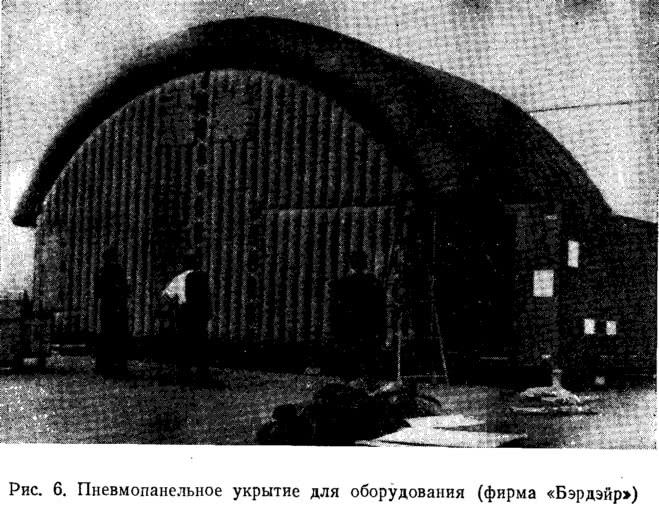 Рис. 6. Пневмопанельное укрытие для оборудования (фирма «Бэрдэйр»)