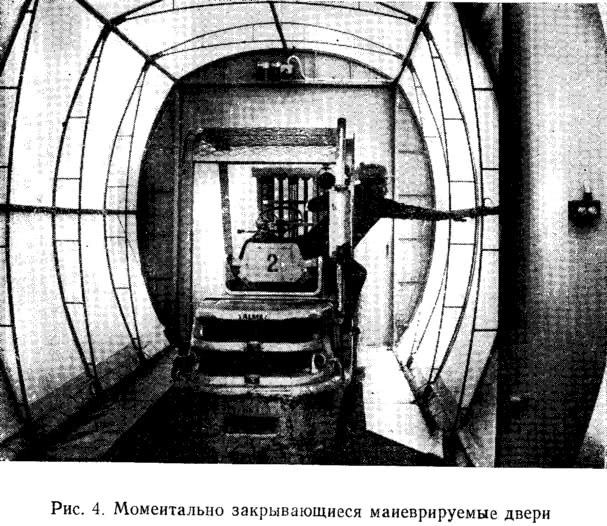 Рис. 4. Моментально закрывающиеся маневрируемые двери