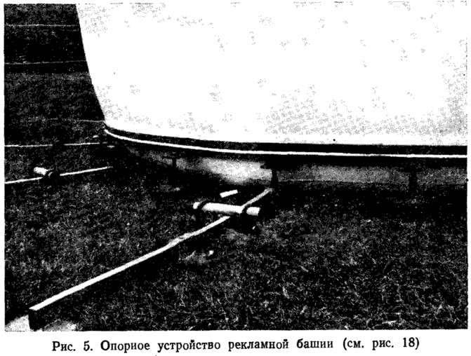 Рис. 5. Опорное устройство рекламной башни (см. рис. 18)
