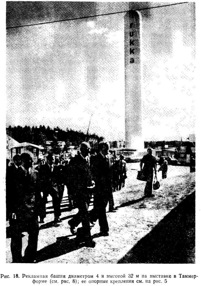 Рис. 18. Рекламная башня диаметром 4 и высотой 32 м