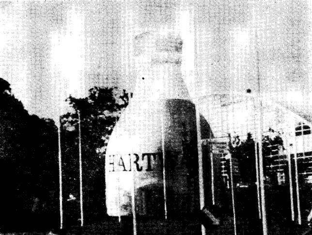 Рис. 19. Рекламное сооружение в форме бутылки диаметром 10 и высотой 16 м