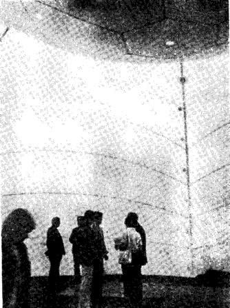 Рис. 20. Покрытие дансинга с вывернутым внутрь куполом
