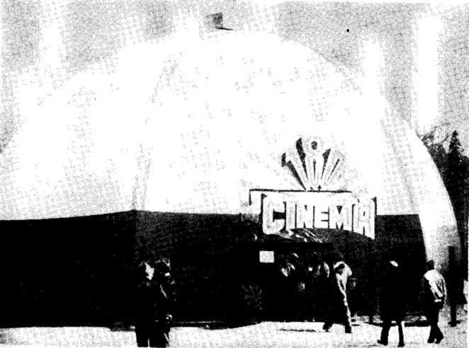 Рис. 23. Тентовое покрытие кинозала в Таммерфорсе размером 16X8 м