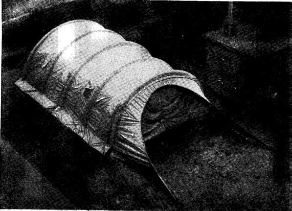Рис. 6. Экспериментальное пневмокаркасное сооружение
