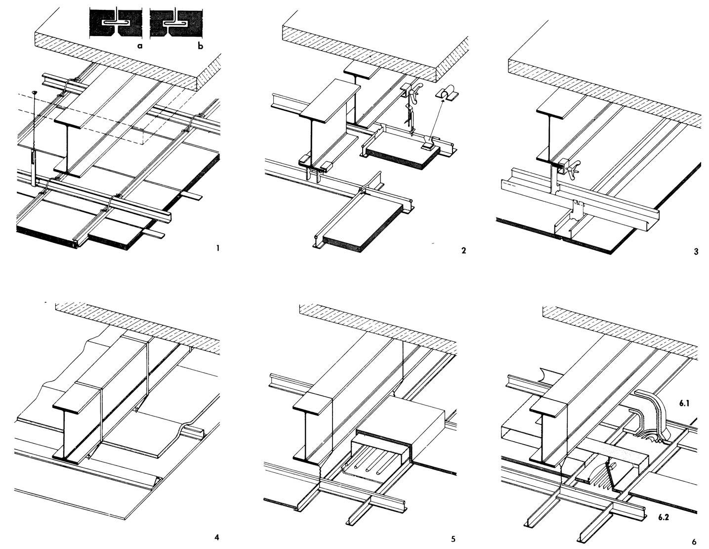 Рисунки 1-6. Потолки из съемных плит