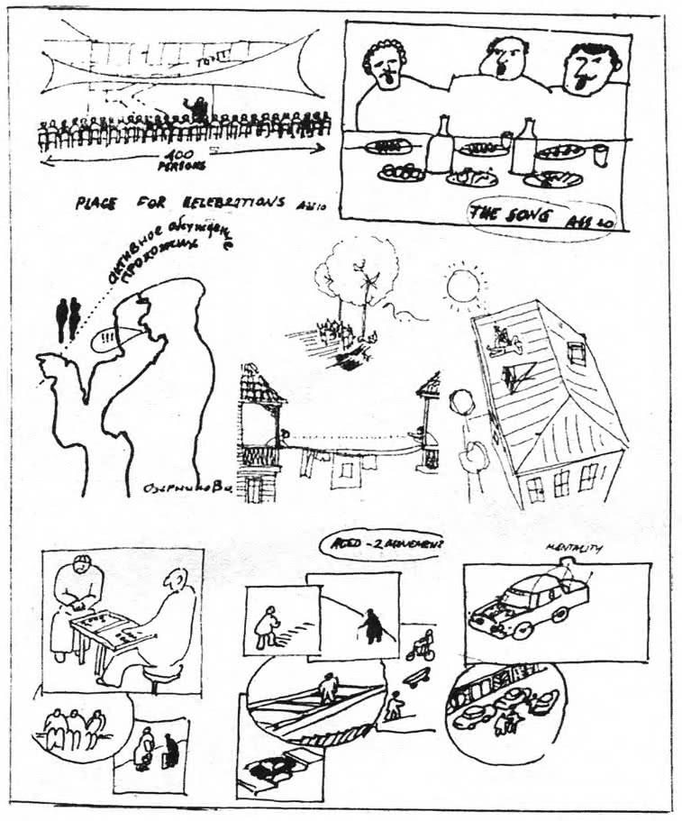 Изучение местных образа жизни, традиций, типов деятельности посредством зарисовок, чертежей