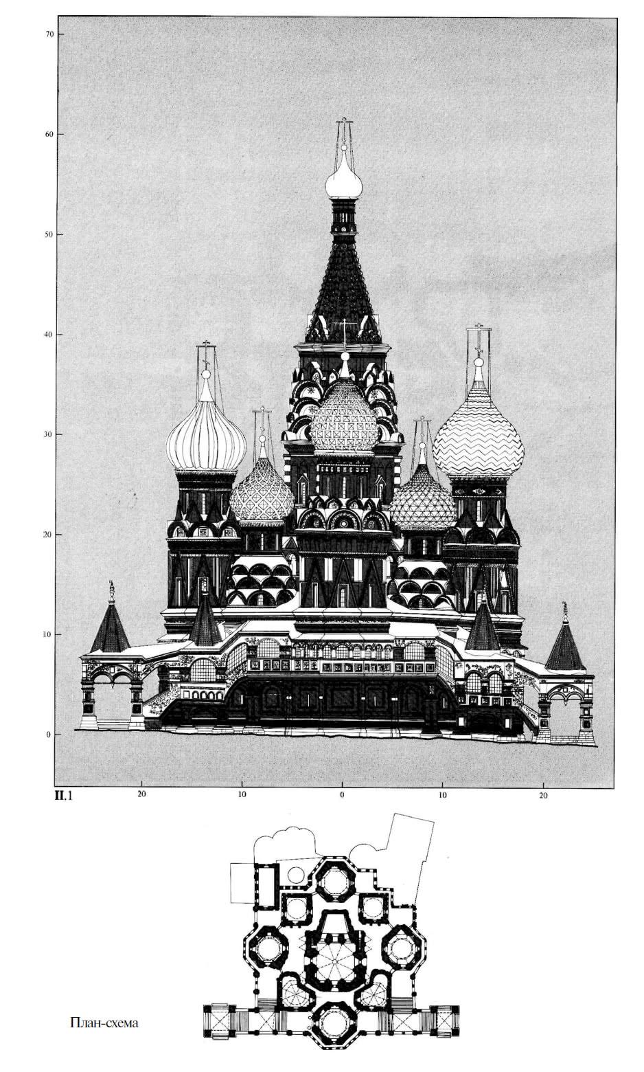План-схема западного фасада Покровского собора