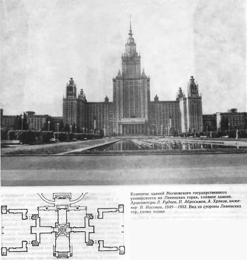 Комплекс зданий Московского государственного университета на Ленинских горах