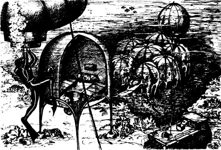 Рис. 16. Подводные пневматические сооружения