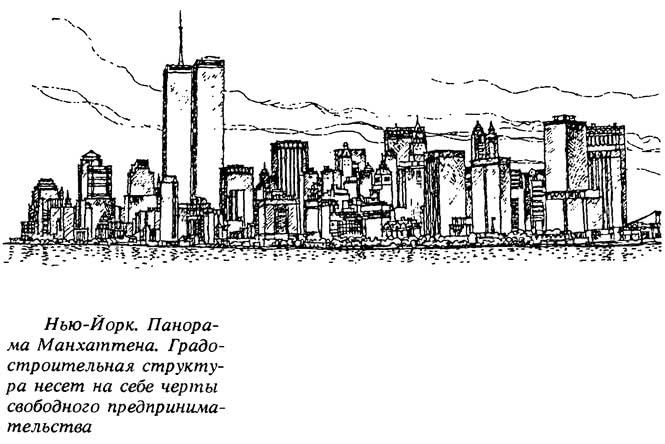 Нью-Йорк. Панорама Манхэттена