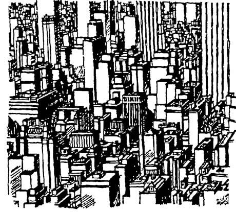 Манхэттен. Процесс максимального заполнения пространства