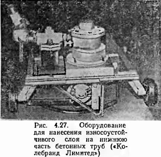 Рис. 4.27. Оборудование для нанесения износоустойчивого слоя