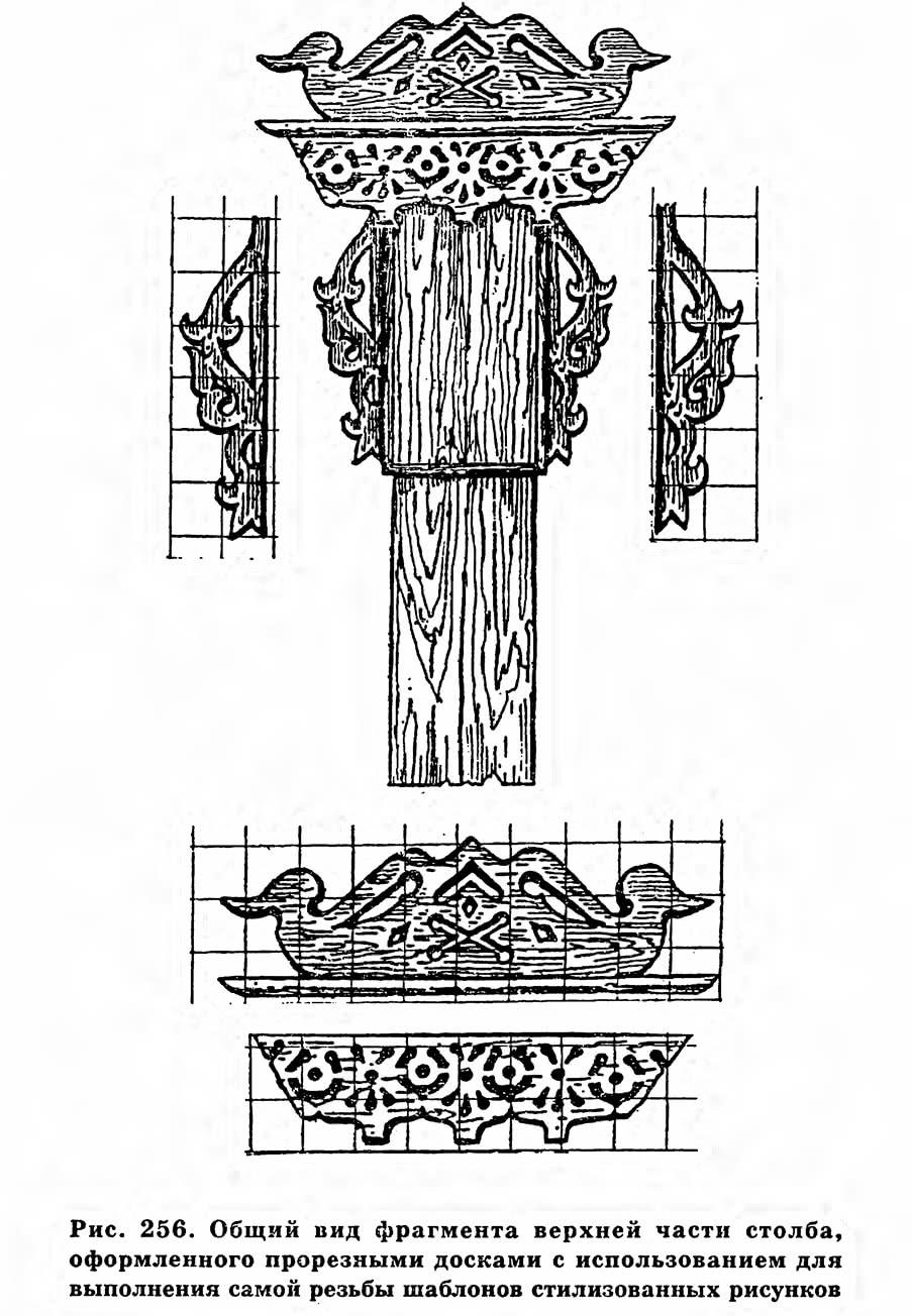 Рис. 256. Общий вид фрагмента верхней части столба