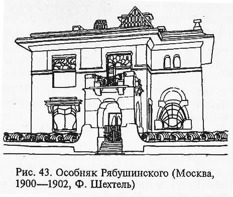 Рис. 43. Особняк Рябушинского. Москва
